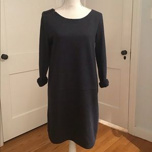 LOFT Dark Blue Sweatshirt Mini Dress